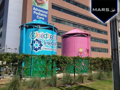 Corrugated Tanks for Children's Hospital