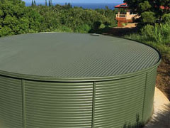 flat top corrugated tank
